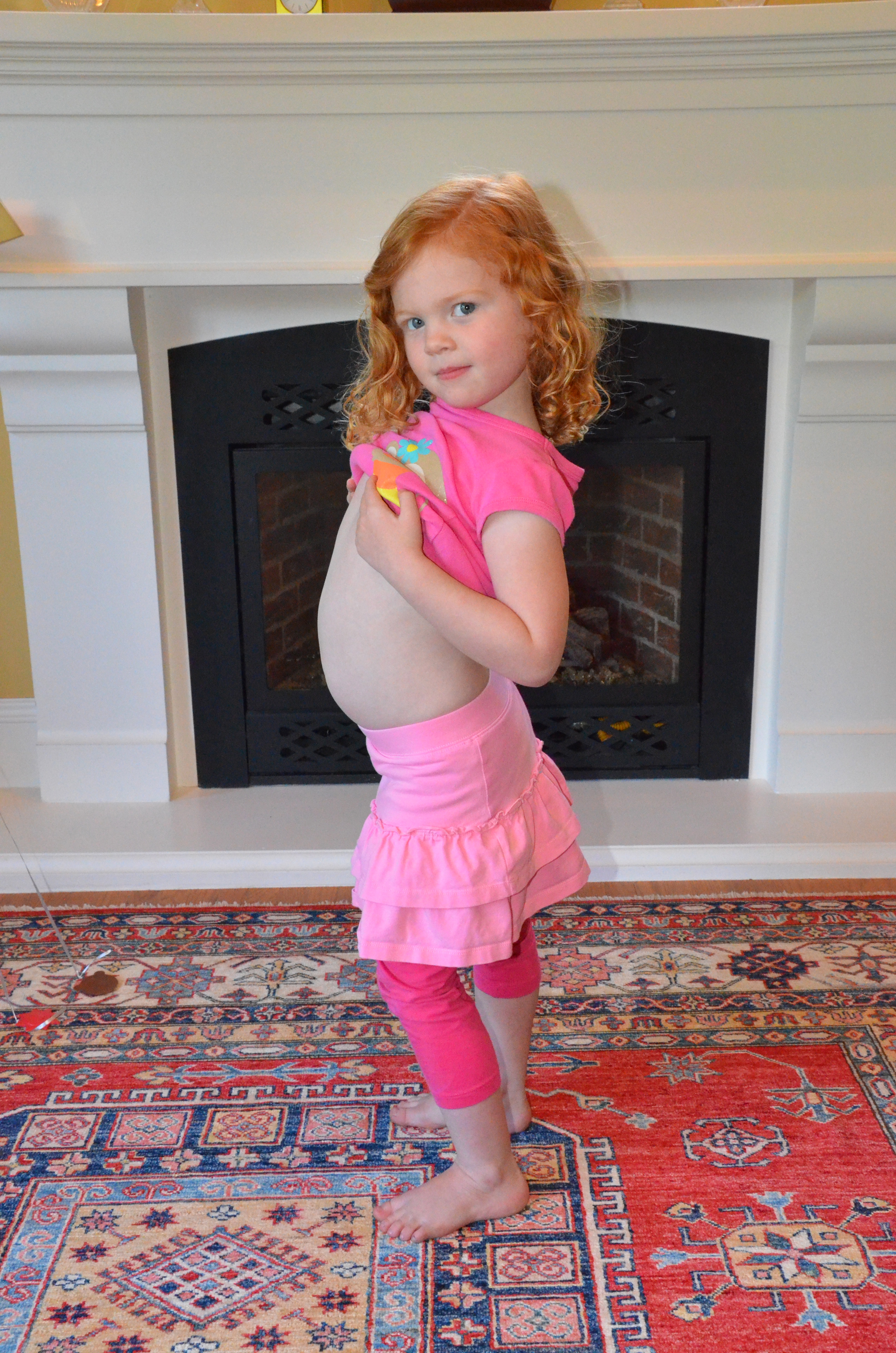 """Proud big sister is """"expecting"""" a baby brother in September!"""