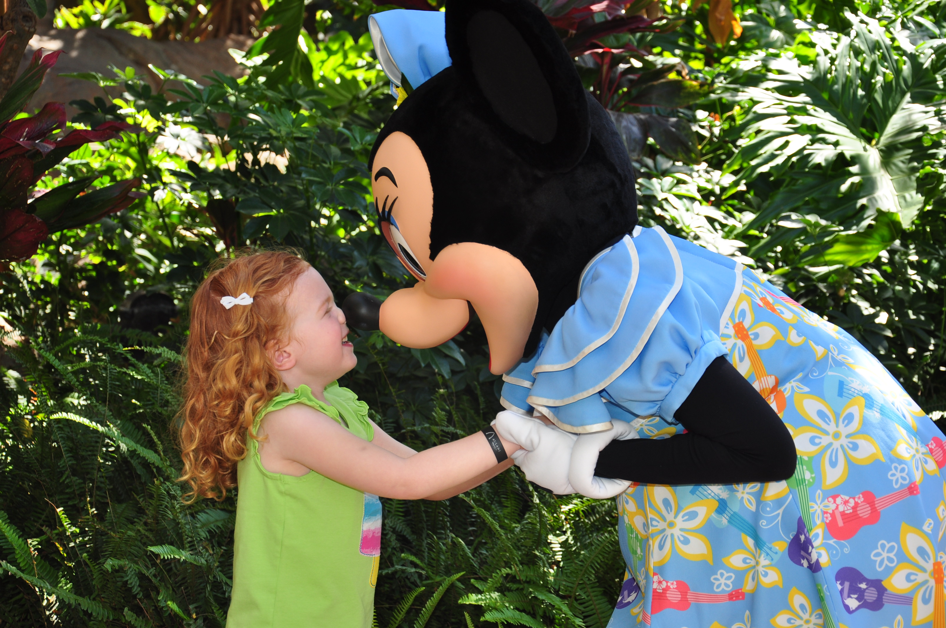 Our little one couldn't get enough of Minnie Mouse!