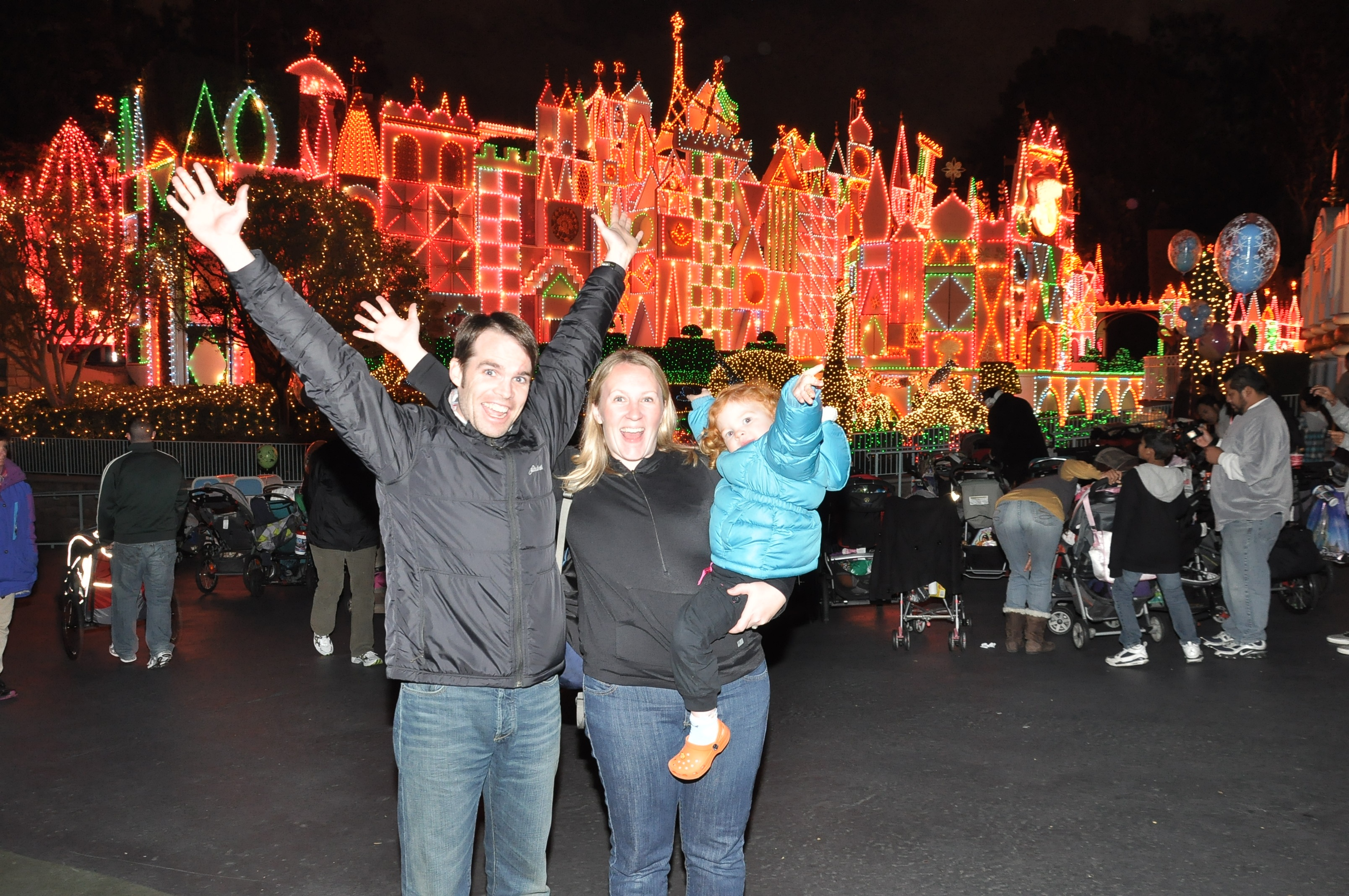 Christmas magic at It's a Small World Holiday.