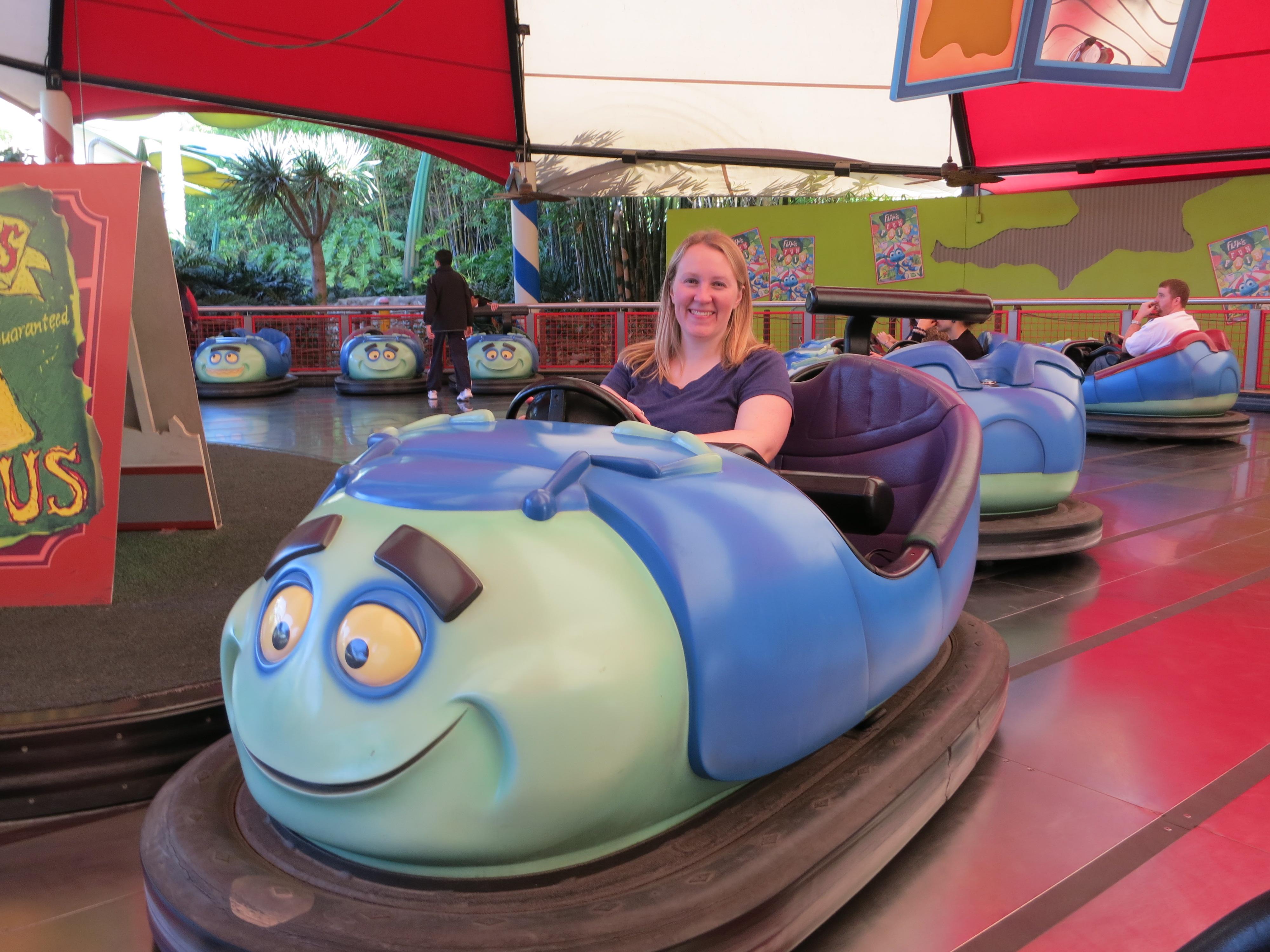 Bug's land bumper cars: Top 7 Attractions in Disneyland's California Adventure for Toddlers & Preschoolers