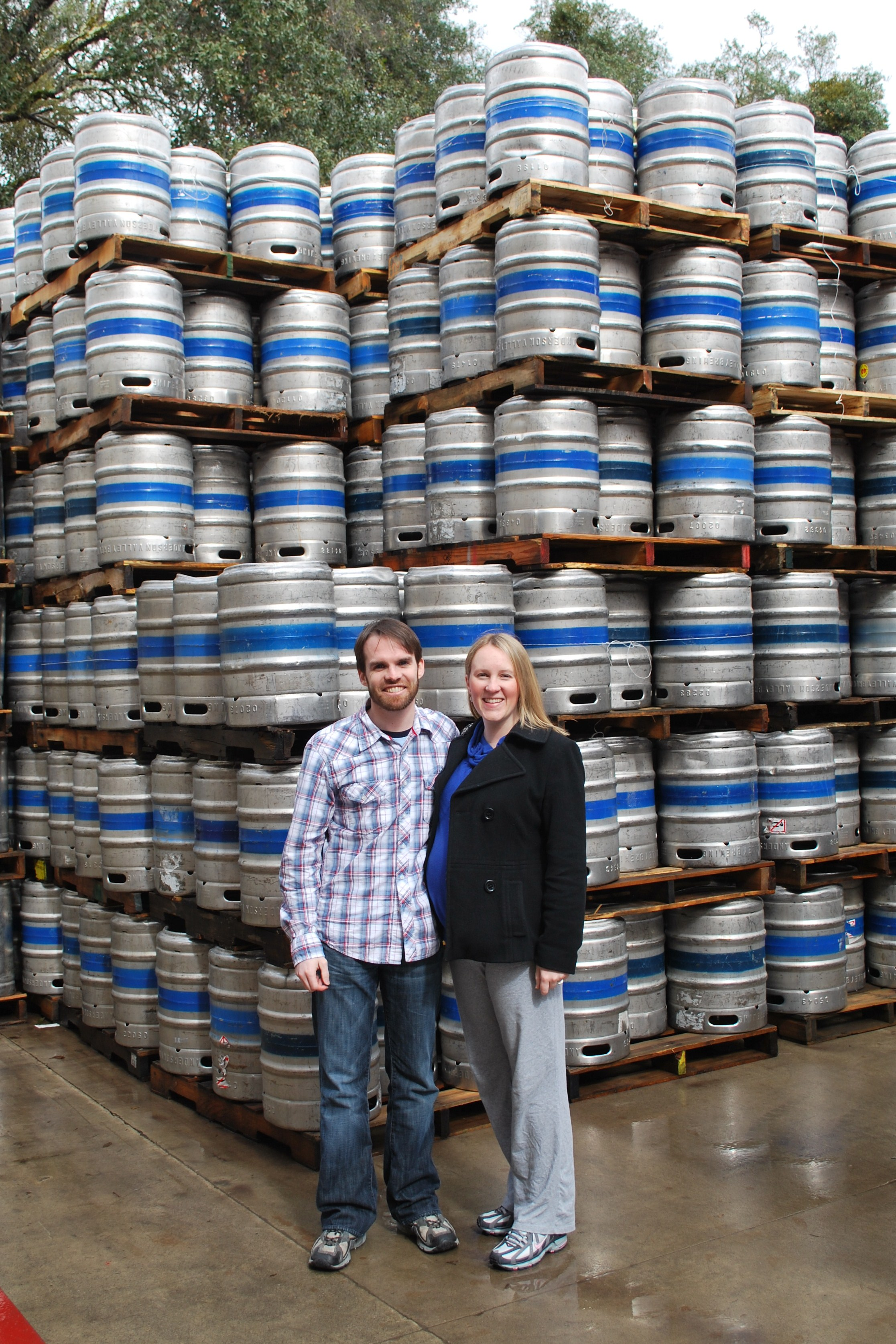 Anderson Valley Brewing Company tour (4 years ago when I was pregnant with Little V)