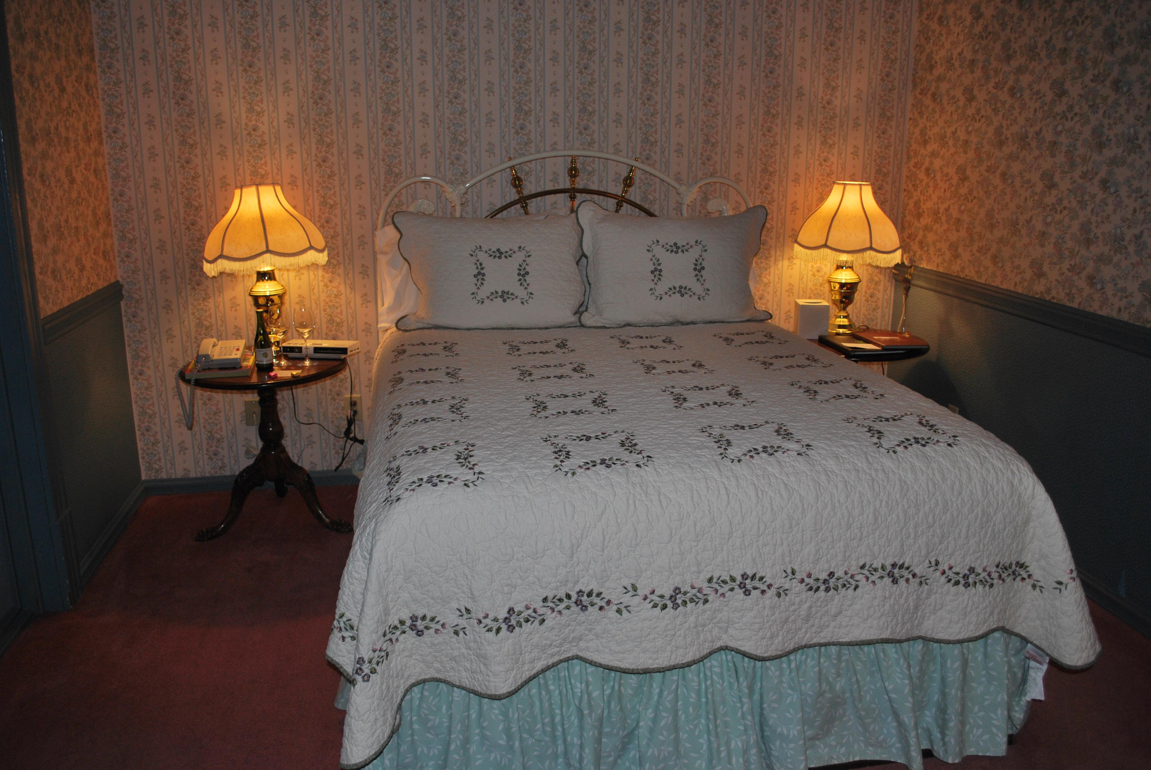 Our totally cute Victorian era room at the Hopland Inn.