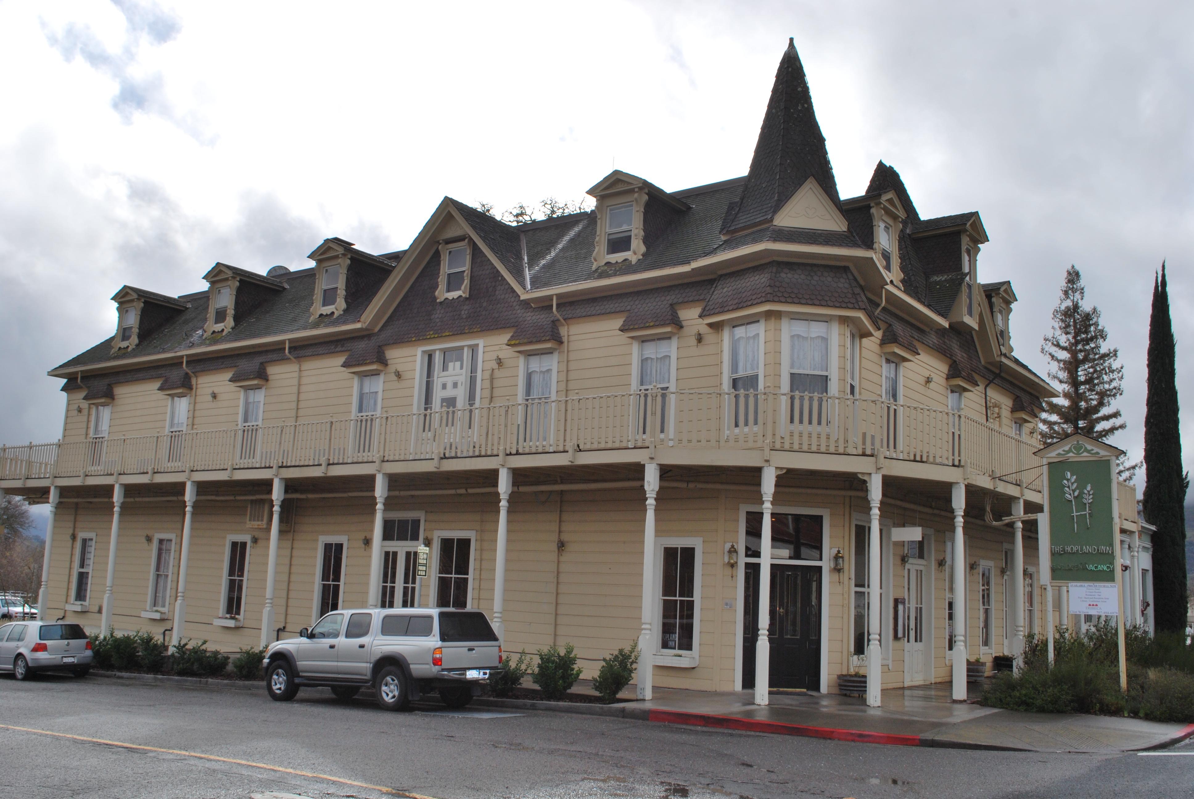 The historic Hopland Inn