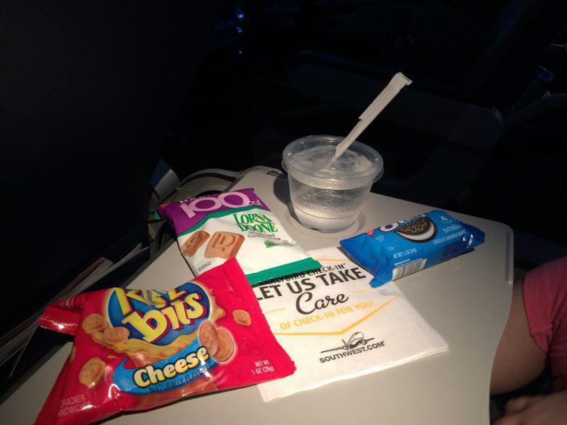 Southwest snacks aboard our last long flight (OAK to MDW).