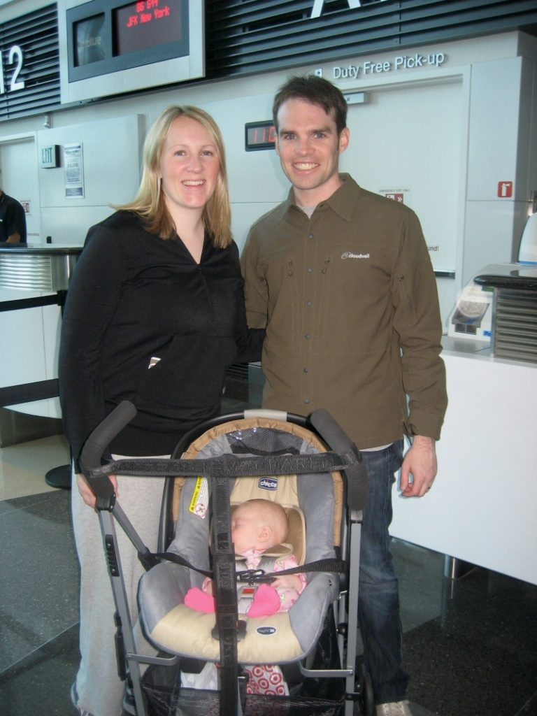 Flying with a Baby - Boarding Baby's First Flight