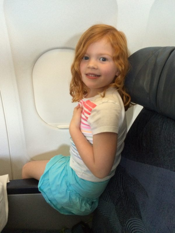 5 year old on airplane