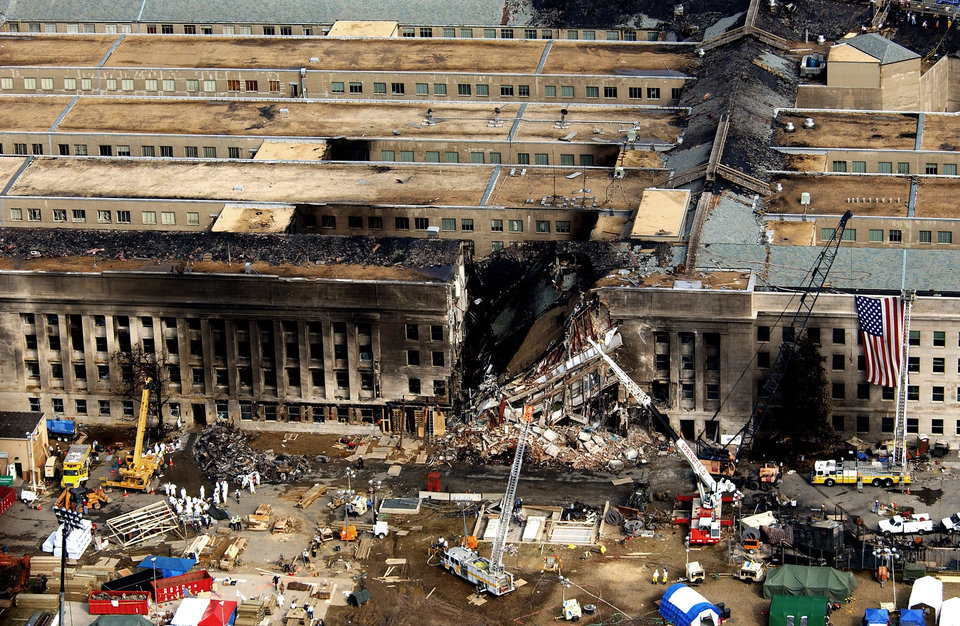 Pentagon Damage from 9/11