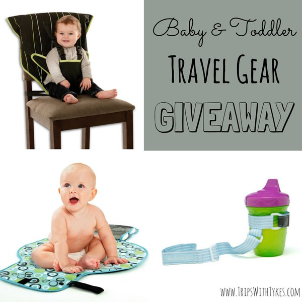 Baby & Toddler Travel Gear Giveaway: Your chance to win an On-The-Go Changing Pad, Easy Seat, and SippiGrip. Enter to win by February 4, 2015!