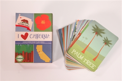 Bright eyed baby state themed flash cards