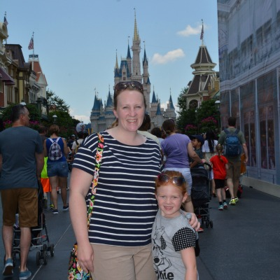 Mother daughter Magic Kingdom castle