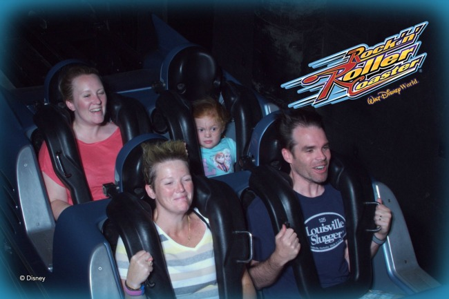 Pushing Kids During Travel - Rock N Roller Coaster