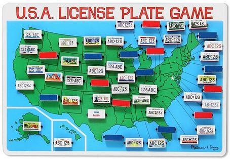 Tech free - Melissa Doug License Plate Game