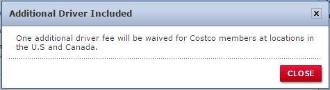 Costco Additional Driver Fee