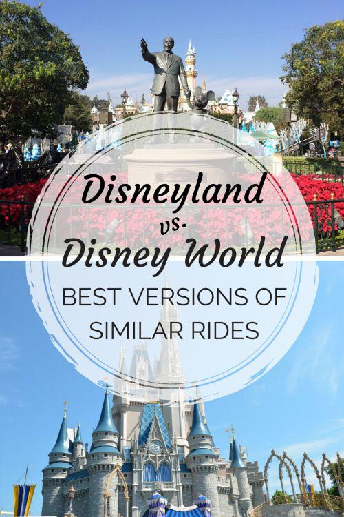 Disney Attraction Prize Fight: Disneyland vs. Walt Disney World Versions of Shared Rides
