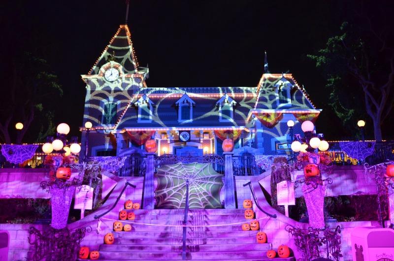 Halloween Time at Disneyland - Mickeys Halloween Party Decor Main Street