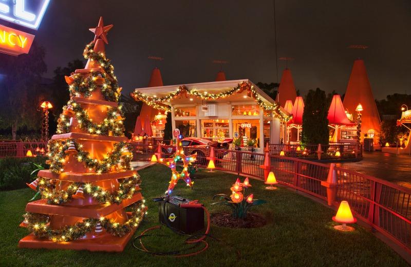 Holidays at Disneyland - Cars Land at Night