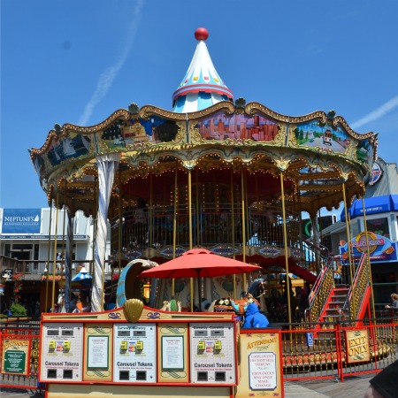 Fishermans Wharf San Francisco with Kids - Pier 39 Carousel