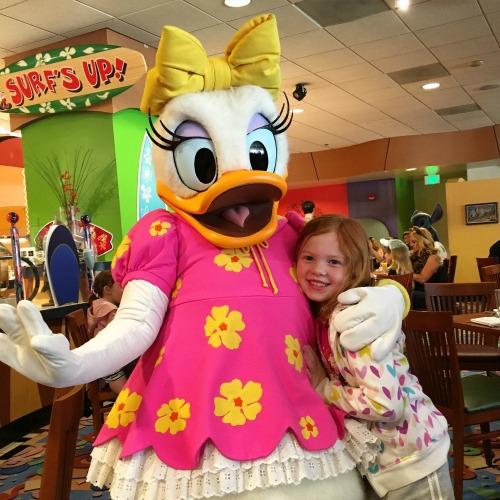 Surfs Up! Breakfast - Meeting Daisy Duck