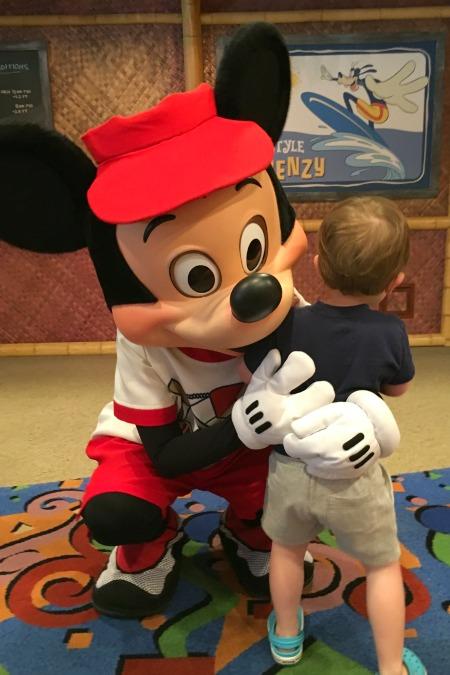 Surf's Up! Breakfast - Hugs for Mickey