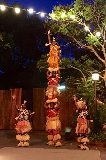Disney Animal Kingdom at Night - Harambe Acrobats