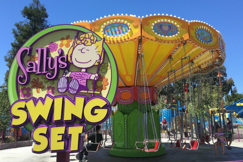 Californias Great America with Kids - Planet Snoopy Swings
