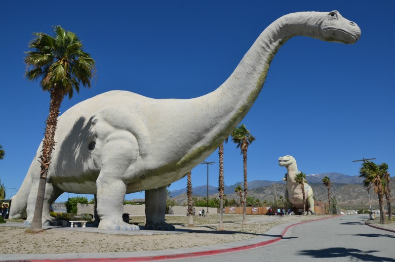 Tips for Family Road Trips on a Budget - Free and Cheap Roadside Attractions like the Cabazon Dinosaurs