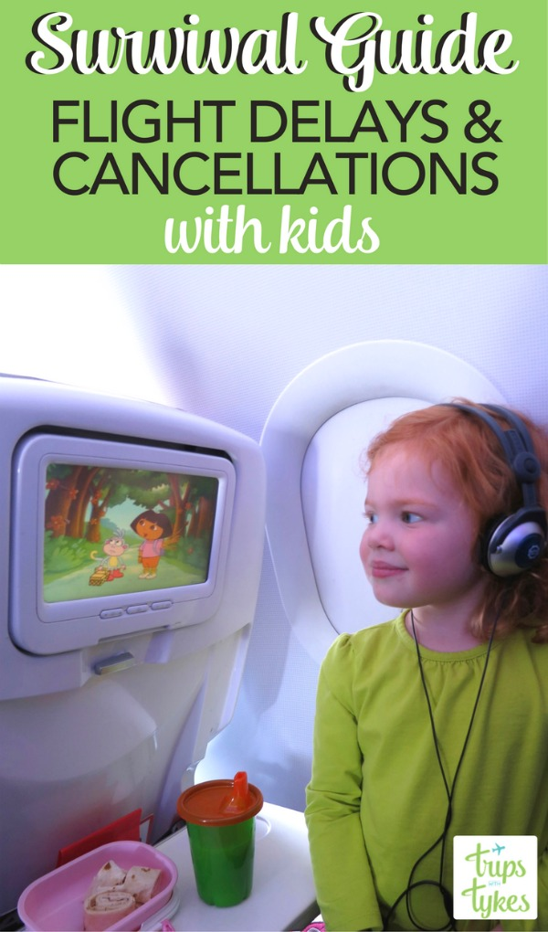 Cancelled flight or flight delay with kids? Tips for how to handle airline delays on your family vacation - plus secrets on minimizing the risk of problems in the first place!