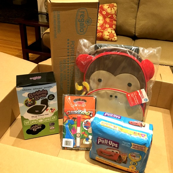 Trip with Toddler - Diapers.com order
