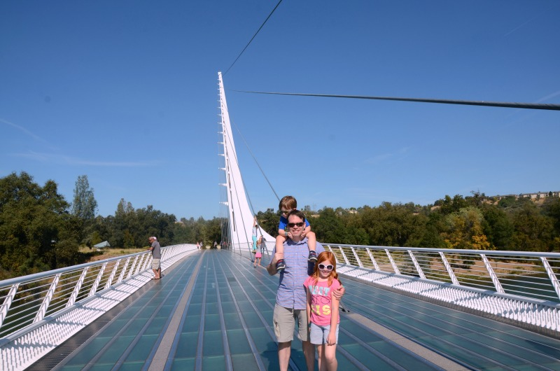 Redding California with Kids - Sundial Bridge