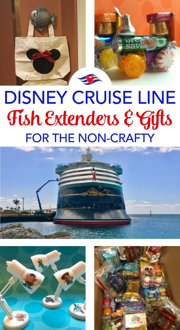 How to do a Disney Cruise Line fish extender gift exchange even if you aren't that crafty. Store-bought and easy DIY gift ideas.
