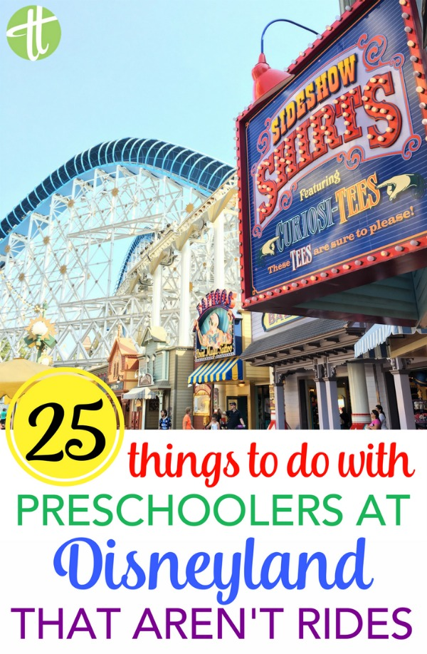 Visiting Disneyland with a preschooler but worried about ride lines? There are so many things to do with preschoolers that don't require waits at all. 25 ideas for your next family trip.
