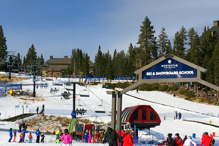 Skiing Northstar with Kids - Midmountain and Ski School