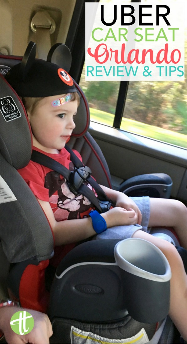 Use Uber to get around Walt Disney World with kids with Uber Car Seat! How the service works for families, cost, safety, and lots of tips!