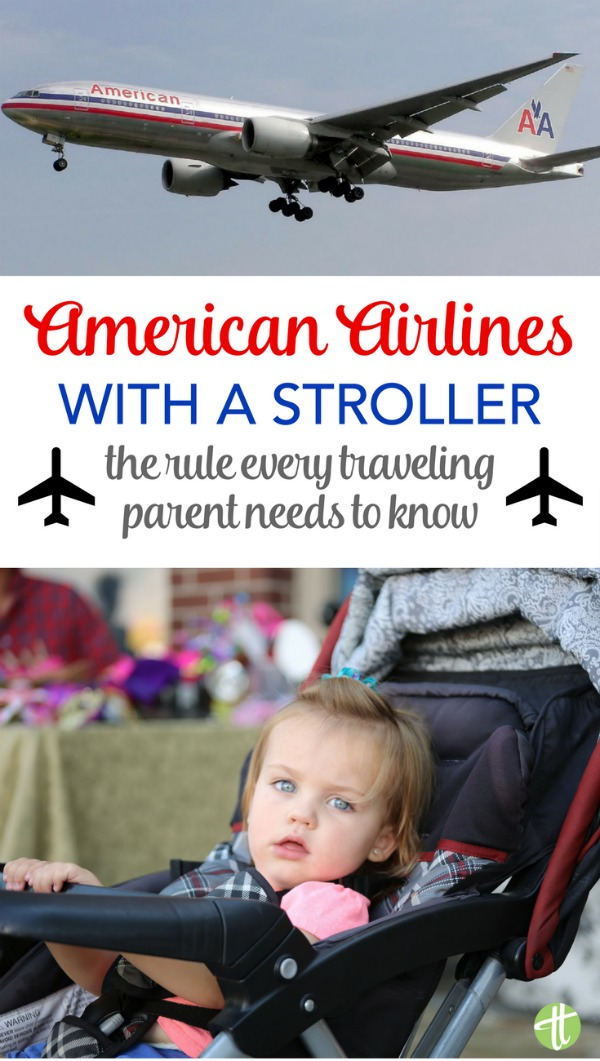 Flying American Airlines with a baby or toddler? Make sure you know this one very important stroller rule to avoid an unwanted surprise on the day of your family's travels!