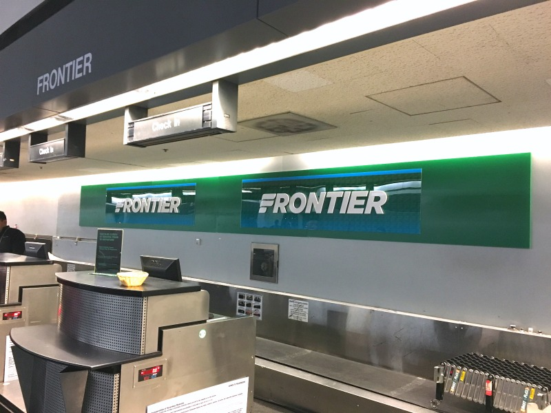 Frontier Airlines - Check in Counter at SFO