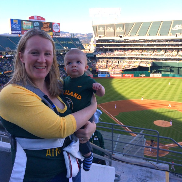 Things to do in Oakland with Kids - Oakland Athletics with Baby