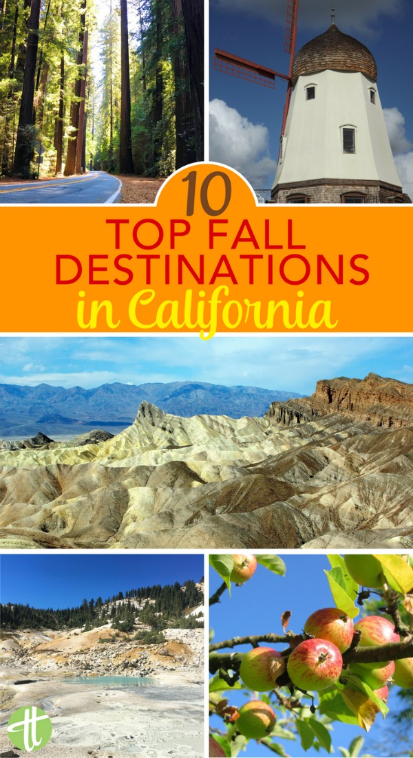 Visiting California in the fall? Consider one of these top 10 family-friendly destinations. Autumn colors, national park adventures, wine, and more.