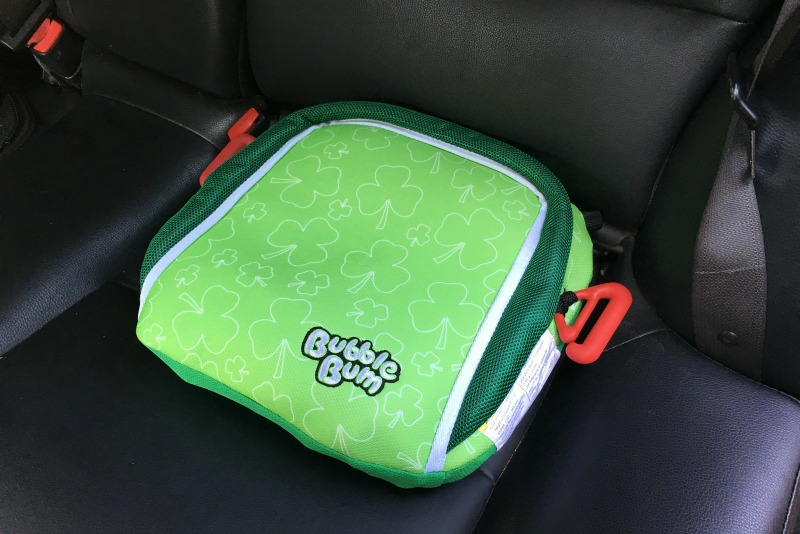 BubbleBum Review - Booster in Back Seat