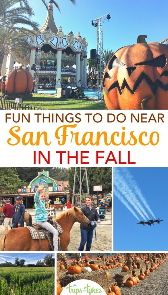 Visiting the San Francisco Bay Area in the fall? Fun autumn events, activities, and things to do, from Halloween at theme parks to pumpkin patches to Fleet Week. #falltravel #sanfrancisco #bay area #california