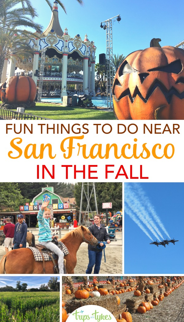 Visiting the San Francisco Bay Area in the fall? Fun autumn events, activities, and things to do, from Halloween at theme parks to pumpkin patches to Fleet Week.