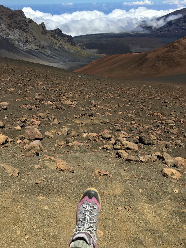 Haleakala National Park Guide and Tips - Hiking Boots on Sliding Sands
