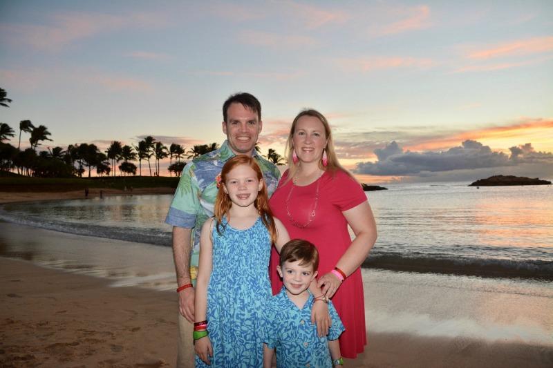 Disney Aulani Splurges - Photopass Family Sunset Photos on Beach