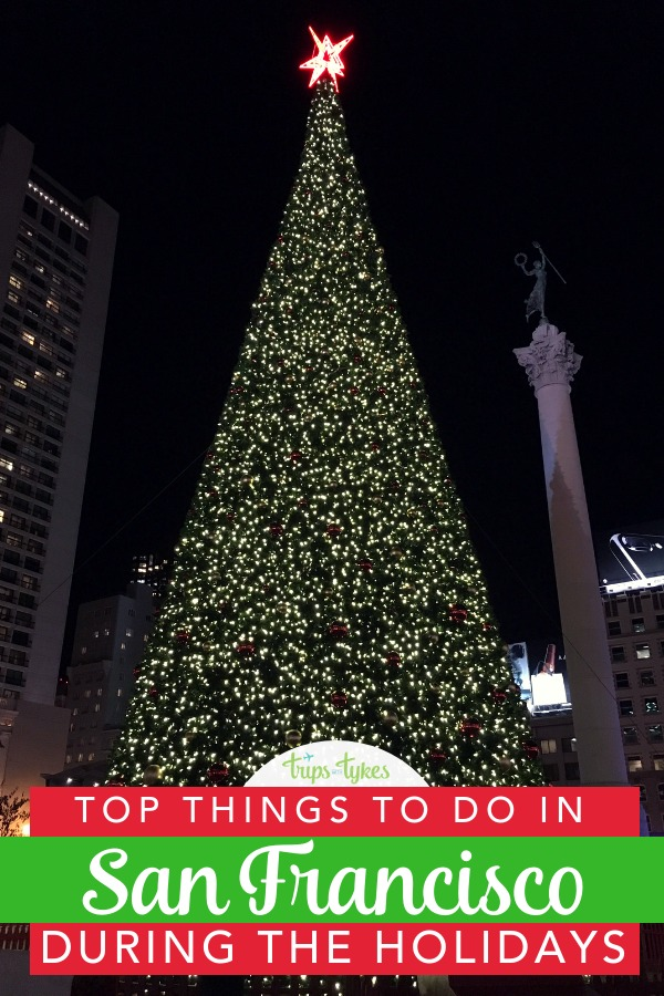 Traveling to San Francisco, California during the Christmas season? Discover top things to do to celebrate the winter holidays with kids. Union Square activities, hotel holiday teas, tree lightings, shows, and other can't-miss special events in the City by the Bay. #SanFrancisco #California #holidaytravel #wintertravel #ChristmasInSanFrancisco
