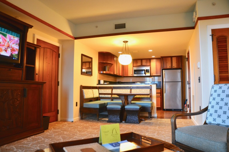 Disney Aulani Splurges - Villa Living Room and Kitchen