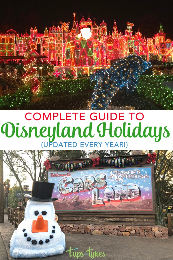 Planning a Disneyland visit during the holidays? Tips and tricks for attractions like Haunted Mansion Holiday, Festival of Holidays, and Christmas holiday parades and fireworks. Plus the best seasonal food and decor, Santa and character meet and greets, and all the other festive things to do with and without kids at the Happiest Place on Earth in winter. #DisneylandHolidays #DWKHolidays #Disneylandwithkids #HolidaysBeginHere #Disneyland #Christmas #wintertravel