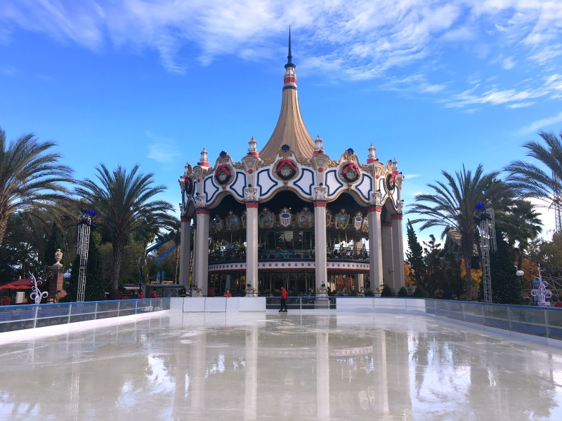 Winterfest at Great America - Carousel and Snowflake Lake