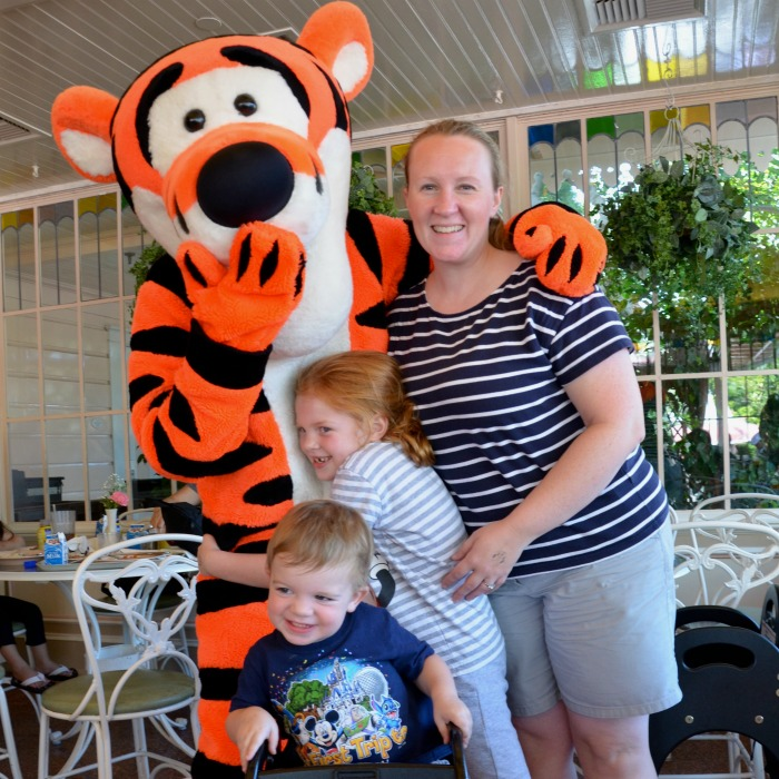 Disneyland Character Meals - Tigger at Plaza Inn