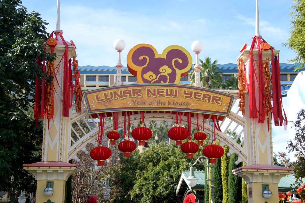 Disneyland Lunar New Year Sign