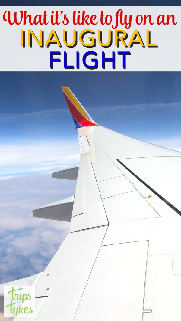 Why every traveler should experience an inaugural flight! What to expect if you are lucky enough to fly during the celebration of a new airline route. #airtravel #avgeek #aviation #SouthwestStorytellers #SouthwestHeart