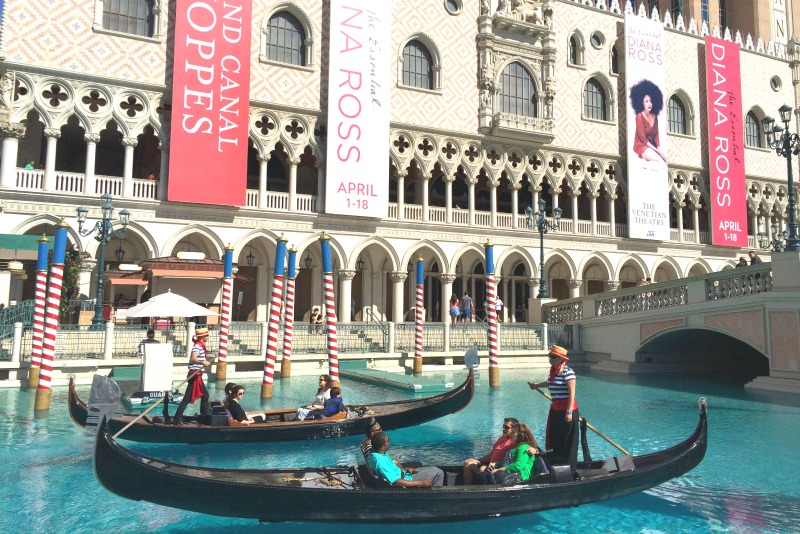 Kid-Friendly Hotels in Las Vegas - Venetian Gondolas